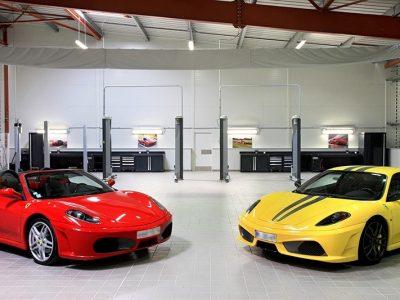 Mobilier atelier DEA Maserati Ferrari