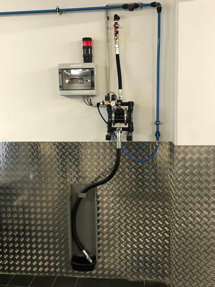 Pompe à membrane Worky pour la vidange des récupérateurs mobiles d