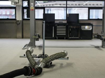 AUDI BAUER Mobilier DEA Système aspiration gaz Worky haute température pour opérations telles que régénération de filtres à particules 1.7