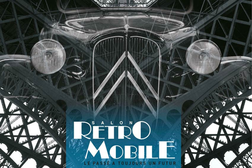 Affiche du salon Retromobile 2019 à Paris