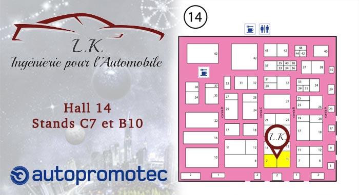 LK au salon Autopromotec 2019 hall 14 Stands C7 B10