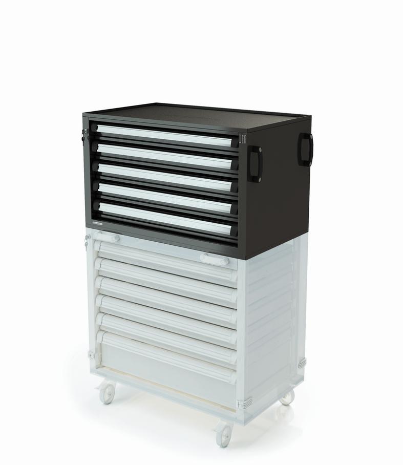 ar-310-10 Caisson à tiroirs supplémentaires - 12 tiroirs - Série H150 pour garage auto, moto, poids-lourds