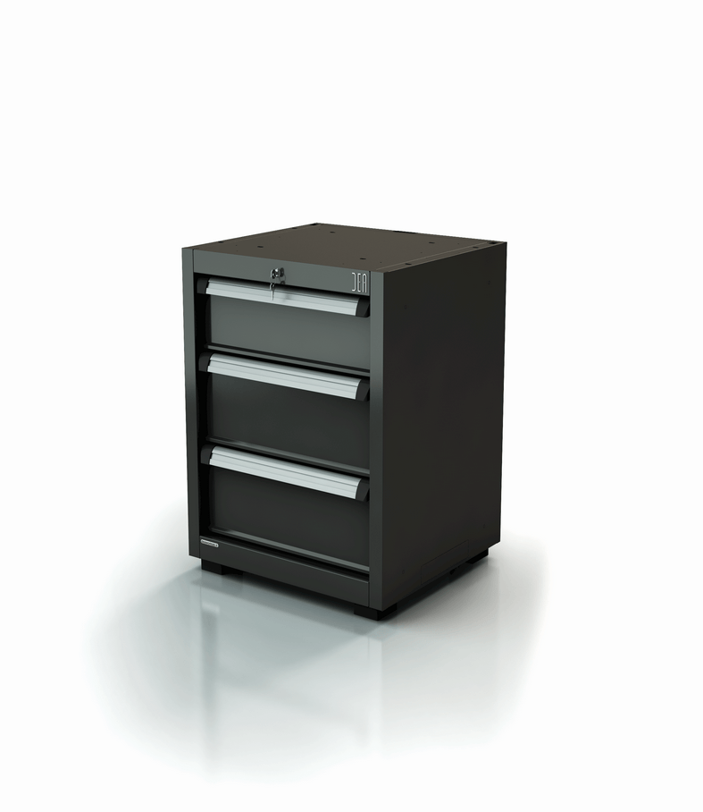 ar-356-11. Rangement 3 tiroirs pour l'agencement d'atelier auto, moto, poids-lourds - série 90