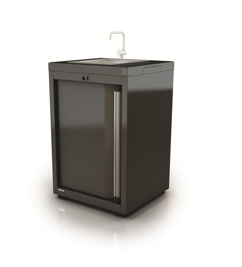 AR-K036.11 Module avec lavabo inox-Hauteur 110cm-Porte gauche - Mobilier technique DEA