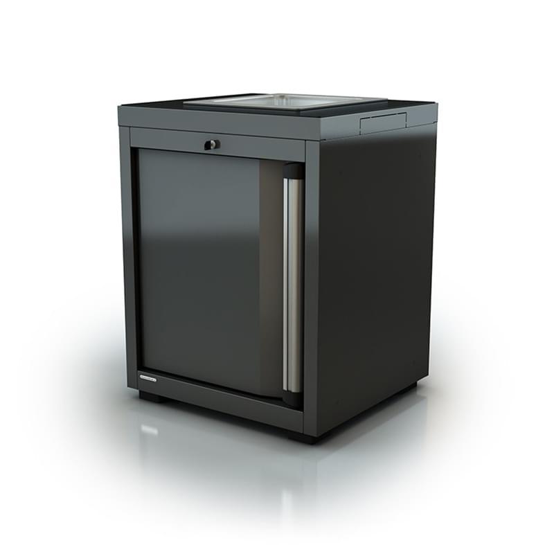 AR-K058.11 Module avec lavabo inox-Porte gauche