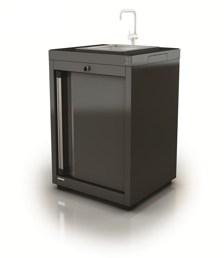 AR-K158.11 Module avec lavabo inox-Porte droite