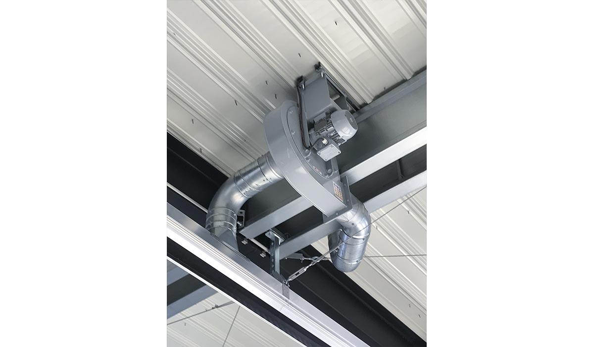 Ventilateur pour extraction de gaz échappement - WORKY
