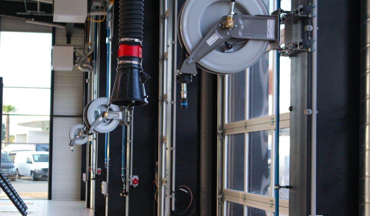 Entonnoir pour extraction des gaz d