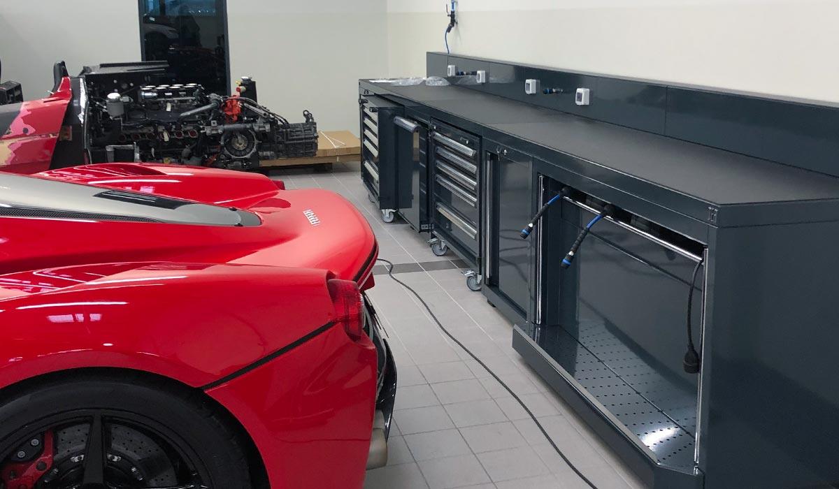 Mobilier DEA avec prises & distribution des fluides et énergies - Atelier Ferrari SF Grand Est