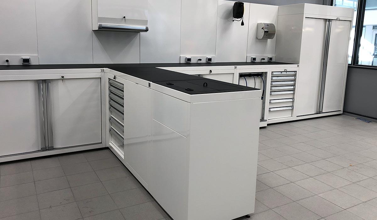 Aménagement atelier Volkswagen - Villers Cotteret - mobilier DEA