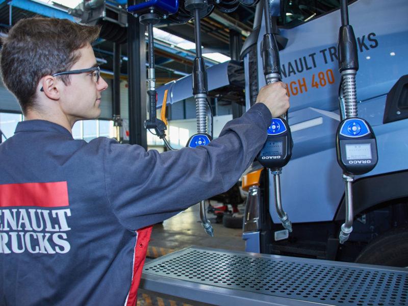 Renault Trucks a choisi la gestion de fluides Pulse Pro de Graco