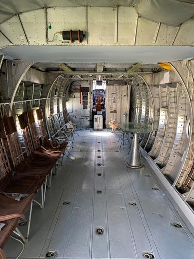 Intérieur de l'avion réhabilité