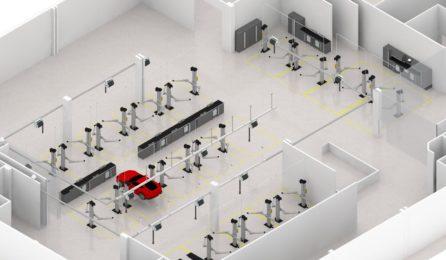 Plan 3D aménagement atelier auto - LK
