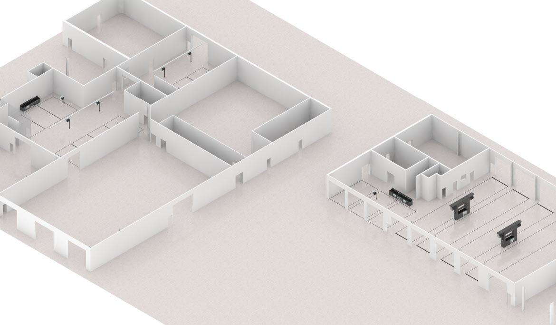 Plan 3D aménagement atelier auto et poids-lourd - LK