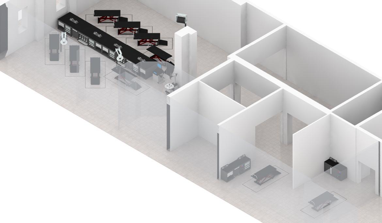 Plan 3D aménagement atelier moto - LK
